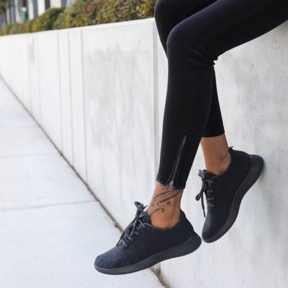 Wool Runners Black Sneakers Women